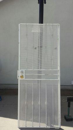 80x32 custom made iron Security Screen Door. Thumbnail