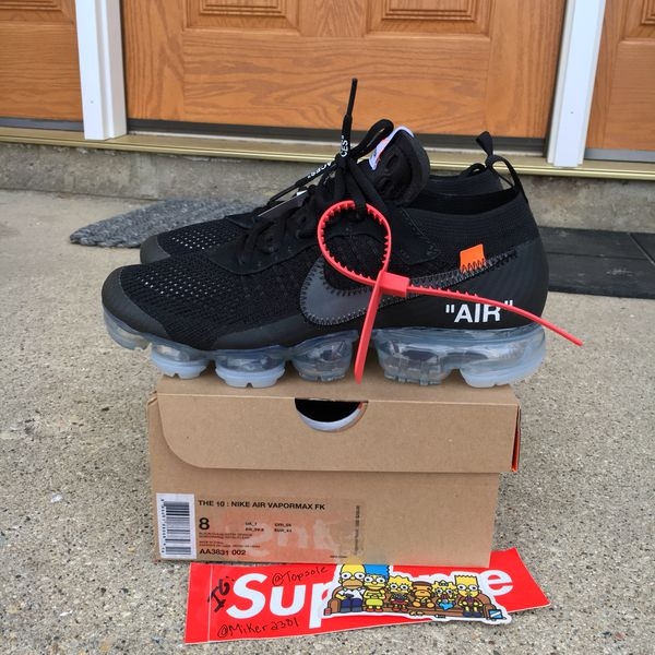 d0f89d767b Nike Air vapormax Off White size 8 for Sale in Bloomingdale, IL ...
