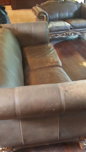 Living room sofa couch leather seat for Sale in Fairfax, VA