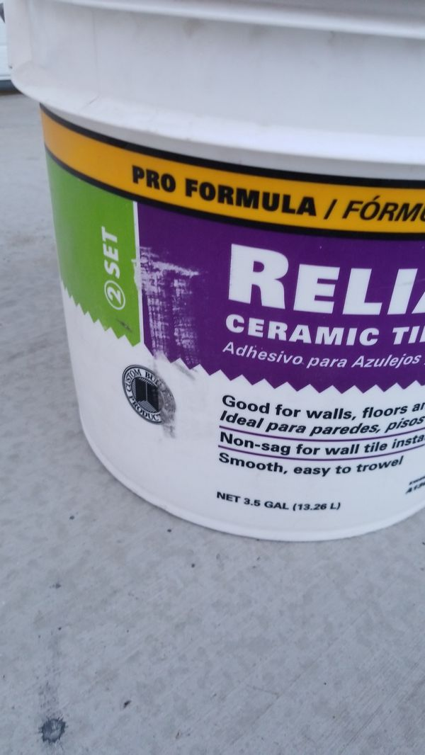 Reliabond Ceramic Tile Adhesive For Sale In Chino Hills Ca Offerup