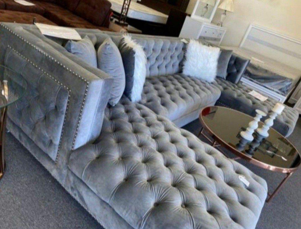Prada Velvet Sectional Sofa
