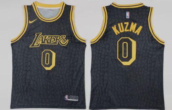New Kyle Kuzma Los Lakers LA City Jersey Black Mamba Nike VERY RARE Mens  Size S a90a37ad5