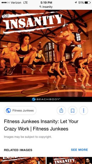 Insanity workout for Sale in Arlington, VA