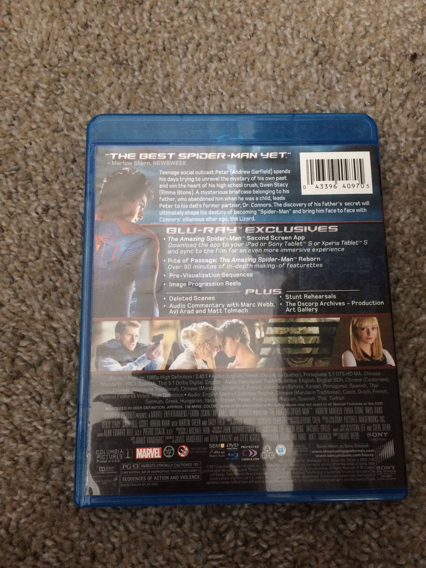 The amazing Spider-Man 3disc for Blu-ray