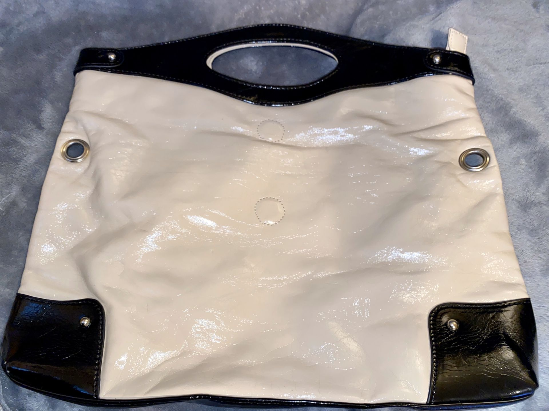 Nine West Black and Cream Tote Bag