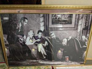 Photo Framed poster Marilyn Monroe, Elvis, James Dean, Rudolph Valentino?