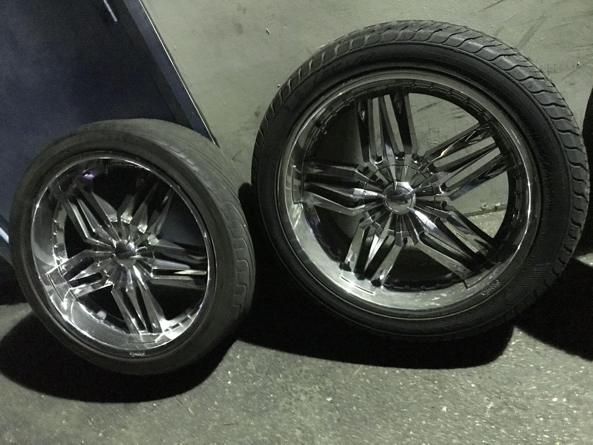 24 Inch Wheels 6 Lug Universal