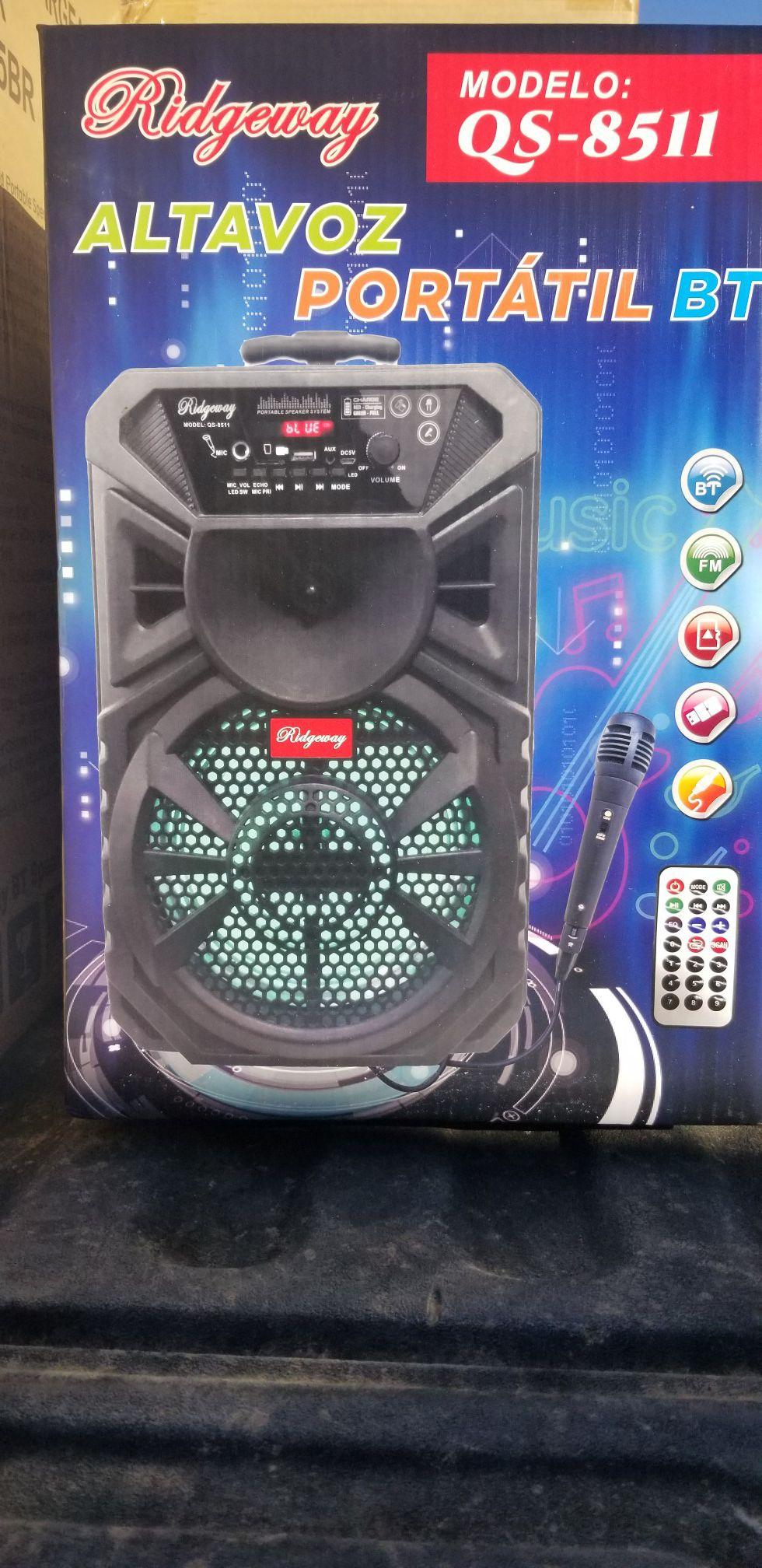 8 Inch New Bluetooth Speaker SD Card, Slot USB Port, FM Radio, Microphone Included For Karaoke ( Bosina ) Bz3