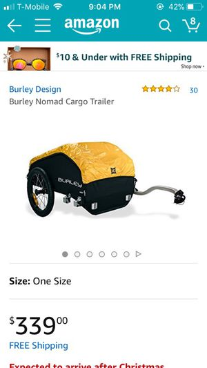 Burley Nomad Cargo Trailer for Sale in Washington, DC