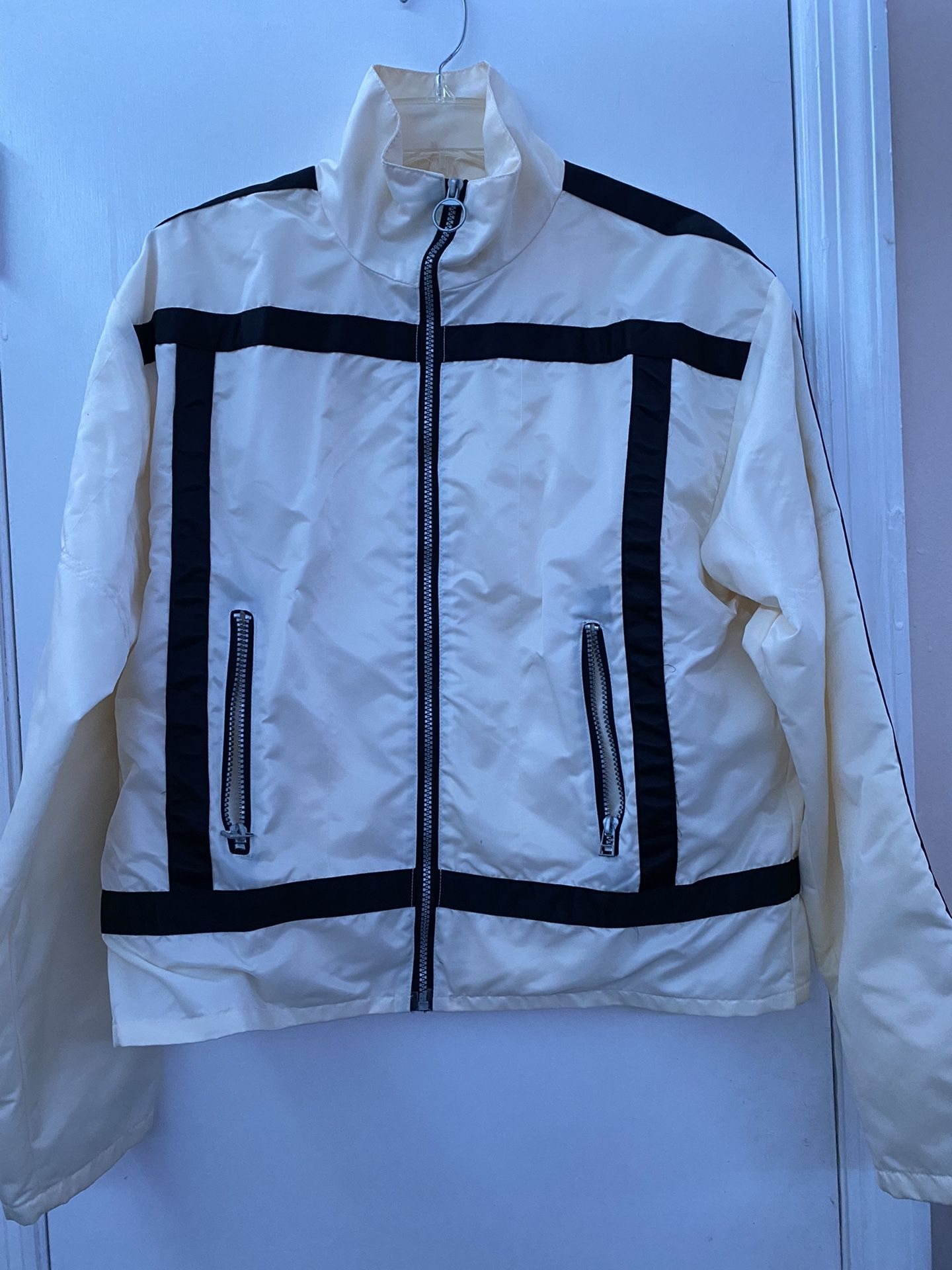 White Biker Look-a-like Jacket