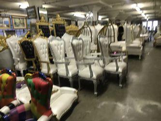Beautiful throne chair.$1800 each. Best offer Thumbnail