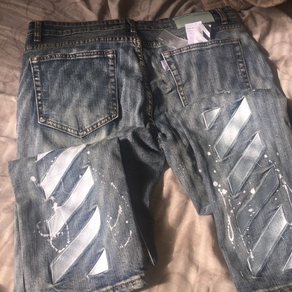 bbbfe8094cdfa9 off white jeans for Sale in Chesapeake