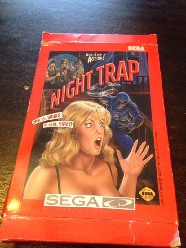 Night Trap Sega CD BOX AND MANUAL