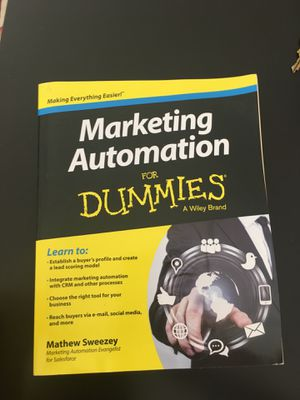 Marketing automation for dummies book for Sale in New York, NY