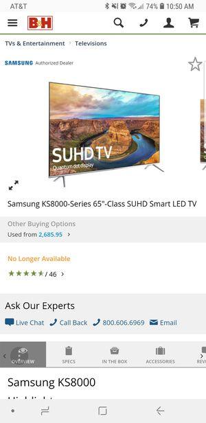 Samsung KS8000-65inch for Sale in Fairfax, VA
