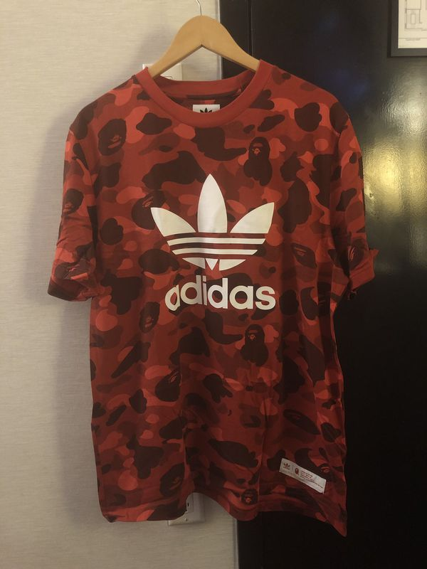 BAPE x Adidas adicolor Tee Raw Red for Sale in Herndon, VA OfferUp