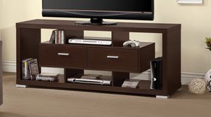 TV STAND CAPPUCCINO FINISH for Sale in Pembroke Pines, FL