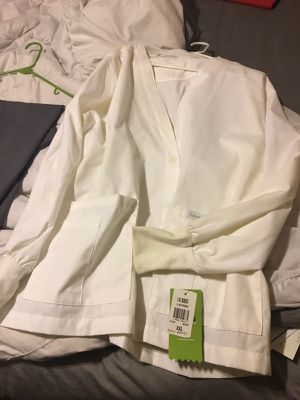 Used, Brand new XXL white lab coat-two available for sale  Sand Springs, OK