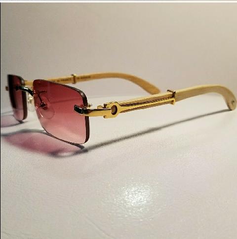 28e865254e33 Cartier C Decor Rimless Sunglasses Wood Gold for Sale in Philadelphia