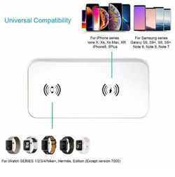 TECT Fast Qi Wireless Charger 2 in 1,Stylish Charging Station, Wireless Charging Thumbnail