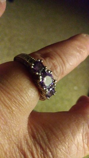 A Pretty Purple Wedding Engagement Ring for Sale in Columbia, PA