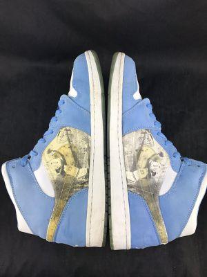 f56c2681ad18ff 2007 Air Jordan 1 Retro Mens 15 Alpha White University Blue 316269 142  Basketball for Sale