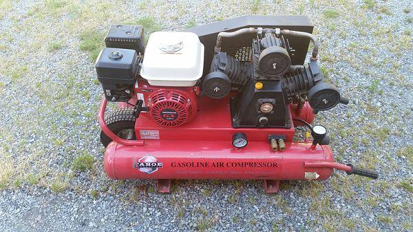 Tahoe Industries Gas Ed Air Compressor Model T16510 14 2 Cfm 100psi 9 5 Gal Professional Grade By Honda Gx 160
