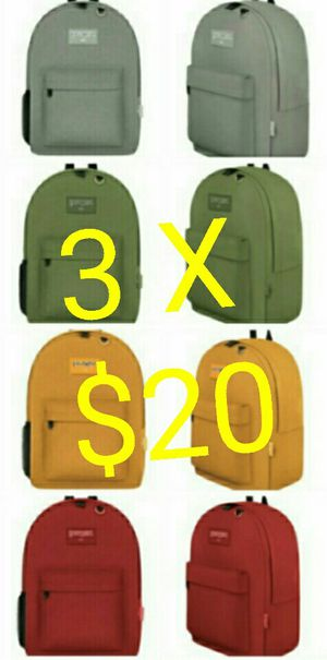 3 x $20 NEW EastWest Brand Classic Backpacks for Sale in Los Angeles, CA