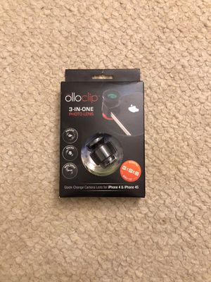 Ollo clip lens for iPhone 4 & 4s used for Sale in Fairfax, VA