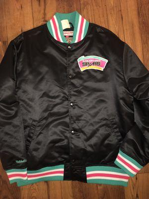 Photo Nostalgic Vintage rare San Antonio Spurs Mitchell & Ness satin bomber snap on jacket