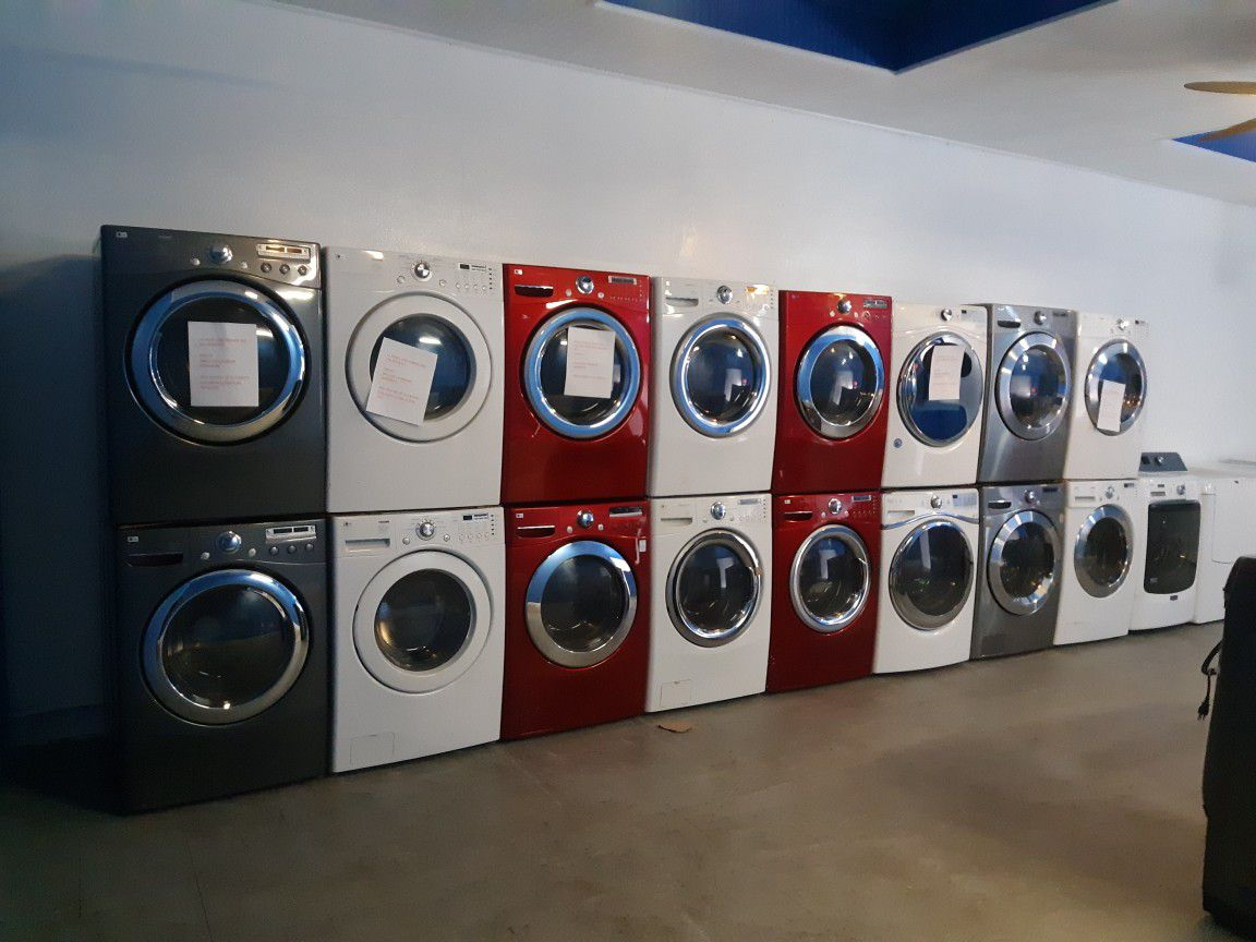 $500.00 & UP FRONT LOAD WASHER AND DRYER SET WORKING PERFECTLY 4 MONTHS WARRANTY