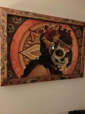 Custom clock/large frame, kne of a kind for Sale in Taylor, MI