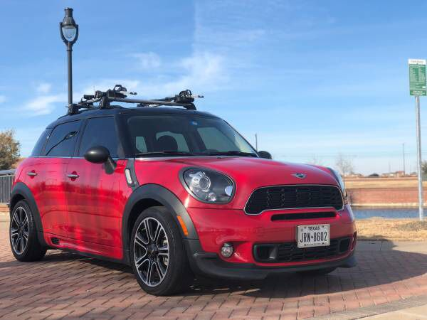 mini cooper countryman roof rack with bike holders for sale in