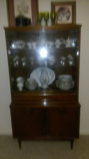 Antique Bassett china cabinet with Joanne Haviland China set for Sale in Knoxville, TN