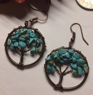 Natural stone tree Of Life earrings for Sale in Denver, CO