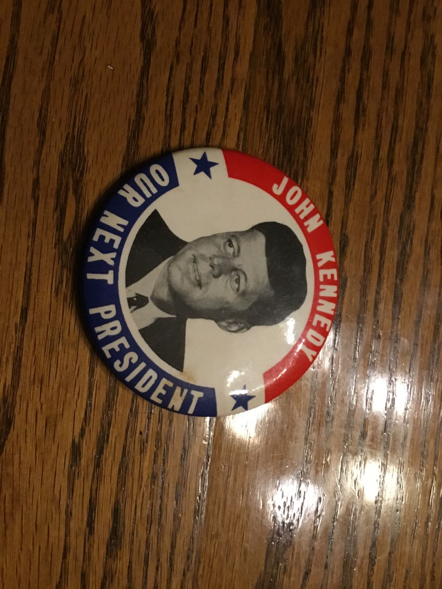 Authentic John Kennedy for President pin