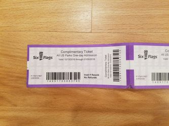 Holiday in the Park, Six Flags Tickets - One-Day Admission, 4 for $90 Thumbnail
