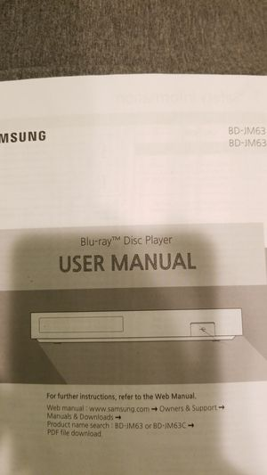 Samsung 3D blu ray player for Sale in Fort Washington, MD