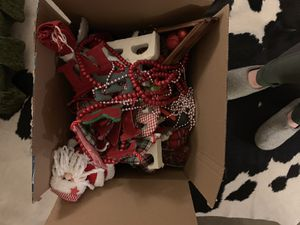 Box of Christmas decorations for Sale in Arlington, VA