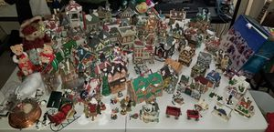 Christmas village, large lot over 100 items for Sale in Roy, WA