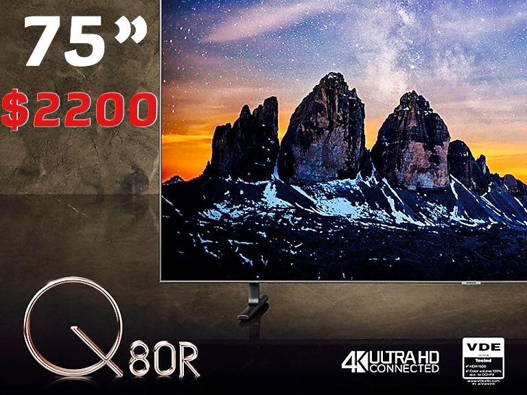 Samsung 75 inch Q8 2020 model 4k tv qn75Q8dt