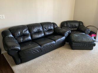 Sofa & Chair with ottoman Set Thumbnail