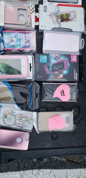 iPhone Samsung HTC android Verizon Tmobile wireless phone remote screen protector New case otterbox note 5 6 7 for Sale in Accokeek, MD
