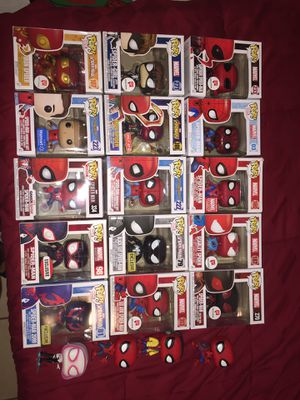 Funko pop figures marvel spider man for Sale in Orlando, FL