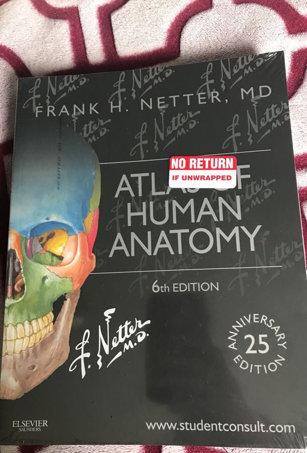 Newest Edition Non Used Atlas Of Human Anatomy 6th Edition For Sale