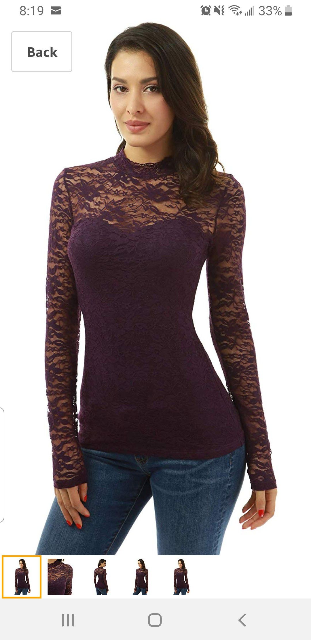New sexy lace shirts fits M and L