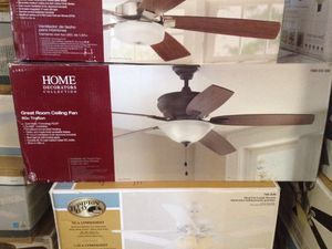 Home decorators collection 60 inch Trafton great room ceiling fan for Sale in Phoenix, AZ