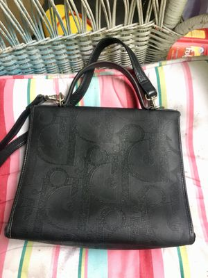 3cee8b66cb CHRISTIAN DIOR AUTHENTIC 1960's VINTAGE COATED CANVAS & LEATHER BAG for  Sale in SeaTac, ...