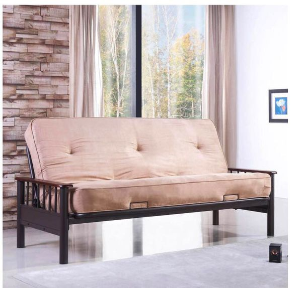 Primo International Leton Futon And Mattress Espresso Additional Light Brown Arm Rest Included Furniture In Arlington Va Offerup