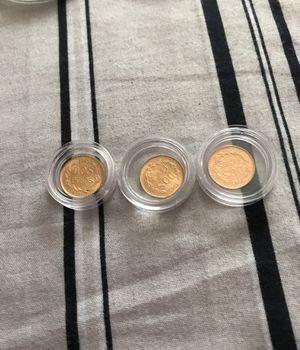 Dos Pesos moneditas de Oro $100 cada uno for Sale in Dallas, TX